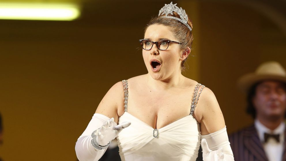 "PHOTO: Tara Erraught as Angelina performs during the dress rehearsal of the Rossini opera ""La Cenerentola"" in this Jan. 22, 2013 file photo taken at the state opera in Vienna."