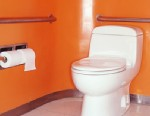 PHOTO: Flushing the toilet with the lid up can spread bacteria like C. difficile, researchers say.