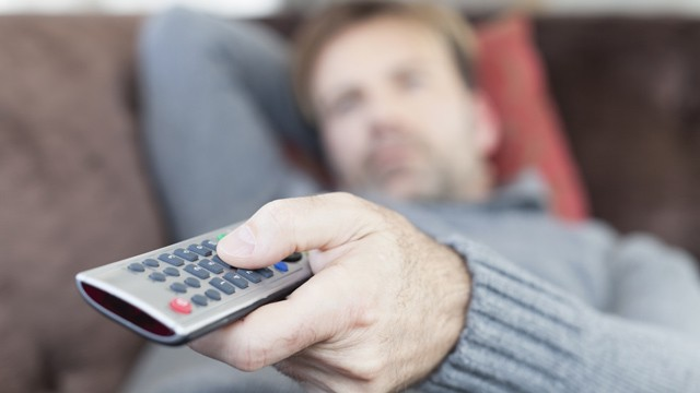 PHOTO: Man watching TV