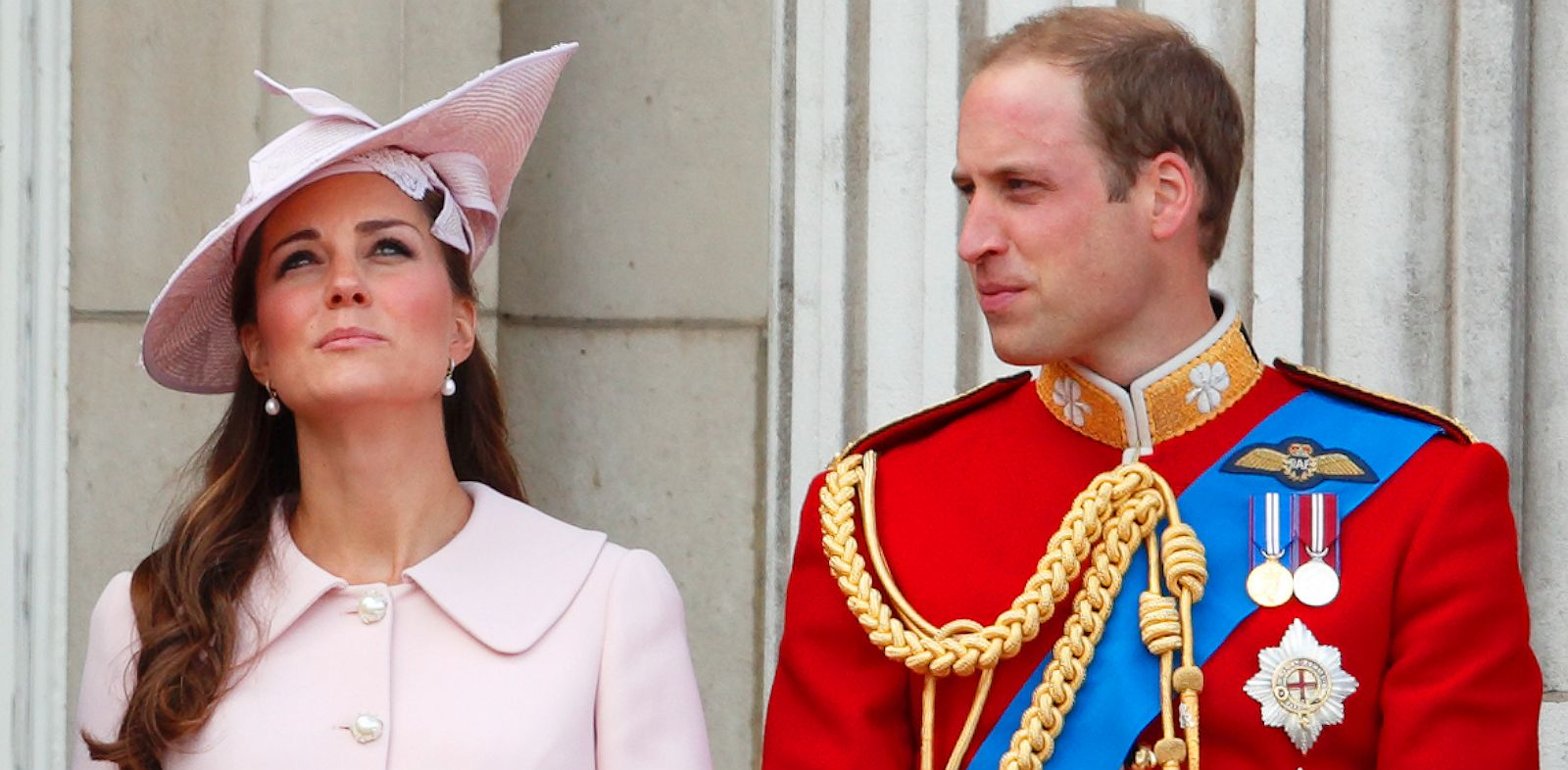 PHOTO: Catherine, Duchess of Cambridge and Prince William, Duke of Cambridge stand on the balcony of Buckingham Palace during the annual Trooping the Colour Ceremony on June 15, 2013 in London, England.