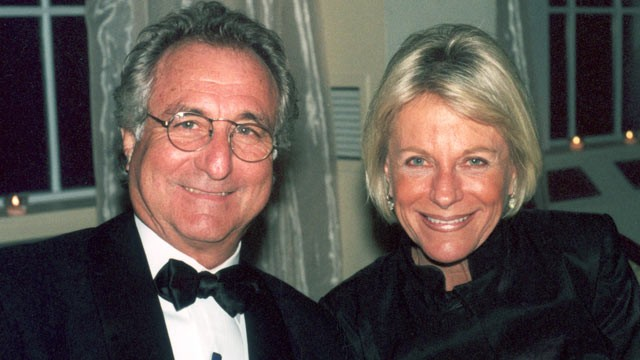 PHOTO: Bernard Madoff and his wife, Ruth Madoff, are seen in November 2001 on Long Island, N.Y.