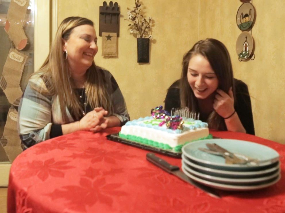 PHOTO: Hope Steele celebrates her 21st birthday with her mom Cheryl Festerman, a nurse who was working in the emergency room the night Steele overdosed on heroin, on Dec. 11, 2017, in Martinsburg, W.Va.
