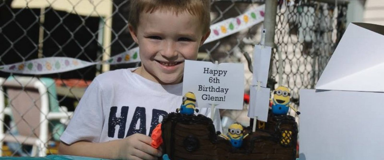 PHOTO: Glenn Buratti celebrates his sixth birthday.