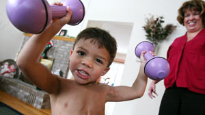 Liam Hoekstra, 3, has myostatin deficiency