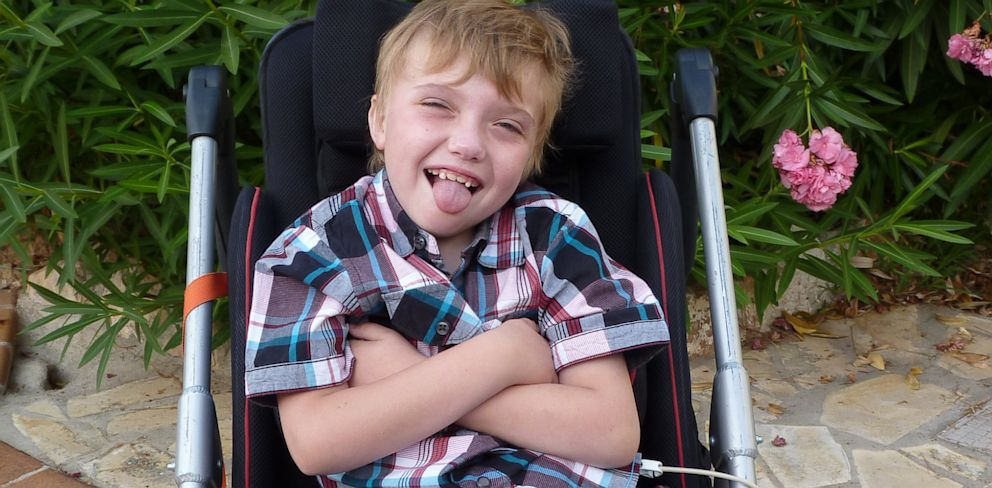 PHOTO: Louis Mushrow cries when he hears music due to Smith-Magenis syndrome.
