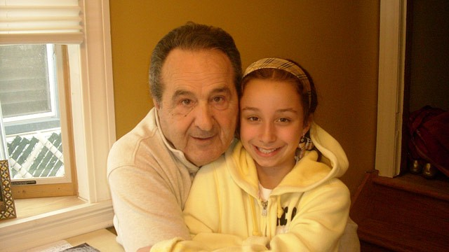 PHOTO: Mario, a 74-year-old heart transplant survivor who requires home caregivers, with his granddaughter in Staten Island.