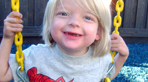 PHOTO Aaron Tanner, 4, of Brentwood Calif., was diagnosed in utero wit