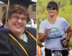 PHOTO: Aimee Smith lost more than half her body weight and now competes in triathlons.
