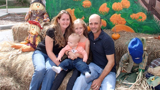 PHOTO: Aubrey Opdyke got the flu when she was pregnant in 2009 and had to fight for her life. Her baby only lived seven minutes. This is her family today.