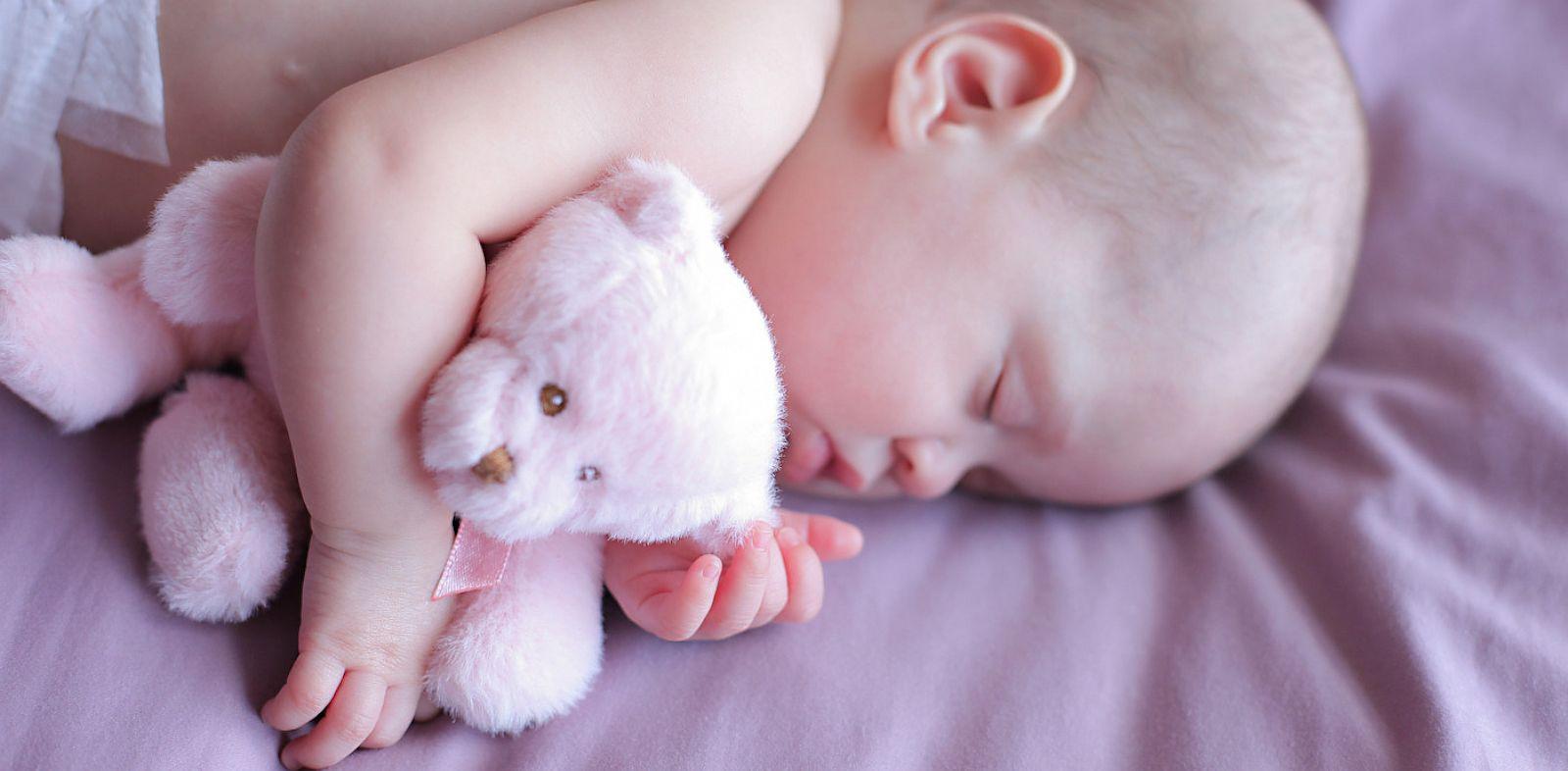 PHOTO: Baby Faith with teddy bear