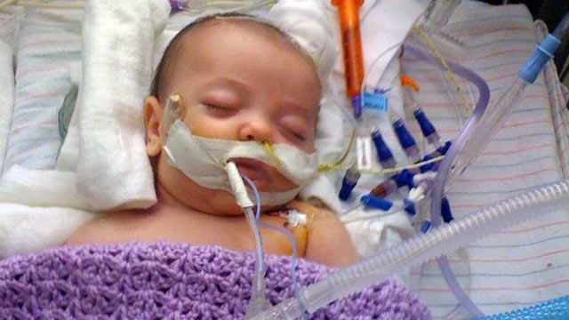 PHOTO: Baby Leena nearly died after contracting whooping cough at 6 weeks old.