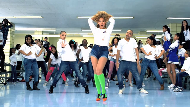 "PHOTO: Beyonce performs in the ""Move Your Body"" video for Lets Move!"