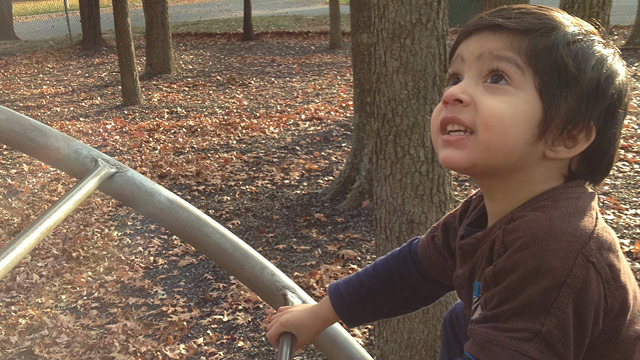 "PHOTO: Three-year-old Umar Khan faced a life-threatening situation when he swallowed a lithium ""button"" battery."