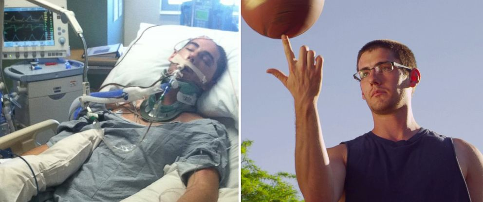 PHOTO: Sam Schmid had massive brain damage from a car accident, but two years later he has had a miracle recovery.