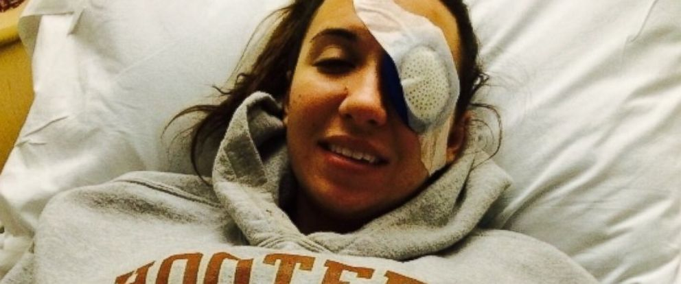 PHOTO: Brittany Williams of Texas says that bacteria from mud in a mud race has left her partially blinded.