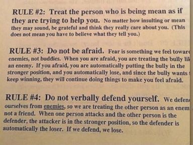 School Flier Counsels Kids Not to Rat Out Bullies