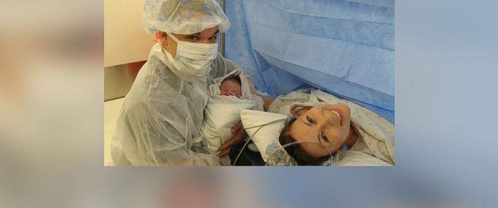 PHOTO: Stephanie Dulli, right, is pictured after her C-section.