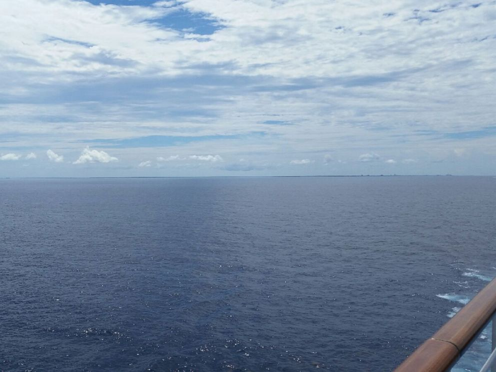 PHOTO: The passengers on board were not allowed off in both Belize and Mexico out of fear about Ebola. This is the view from the ship Friday morning off the coast of Mexico.