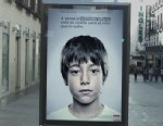 PHOTO: This ad in Spain by ANAR Foundation, a children advocacy organization, shows a hidden message for children under 4.5 feet or so to prevent child abuse.