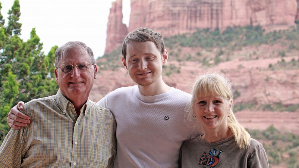 PHOTO: Chris Murto with his parents, Maura, a school volunteer, and Bill Murto, one of the co-founders of Compaq and now retired.