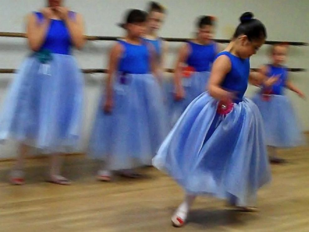 PHOTO: The students learn classical ballet moves and also get to improvise.