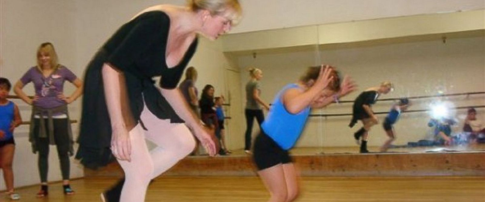 PHOTO: Colleen Perry works with about 30 students in her dance classes.