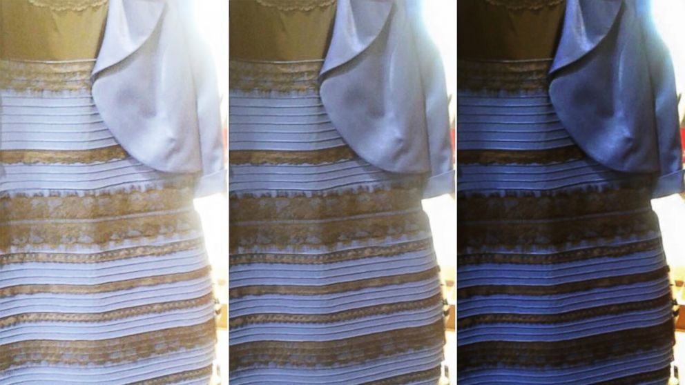 Thing three images of viral dress