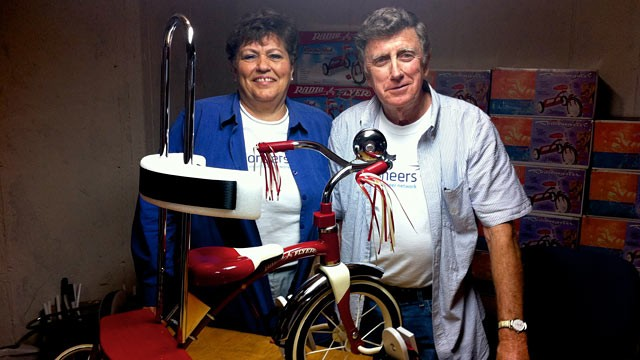 PHOTO: Connie and Gordon Hankins have spent 15 years reconstructing bikes for 900 children with disabilities.