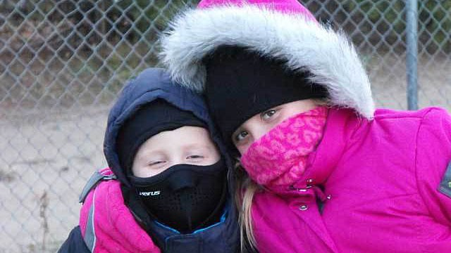 PHOTO: Connor and Taylor Frankenfeld are allergic to the cold.
