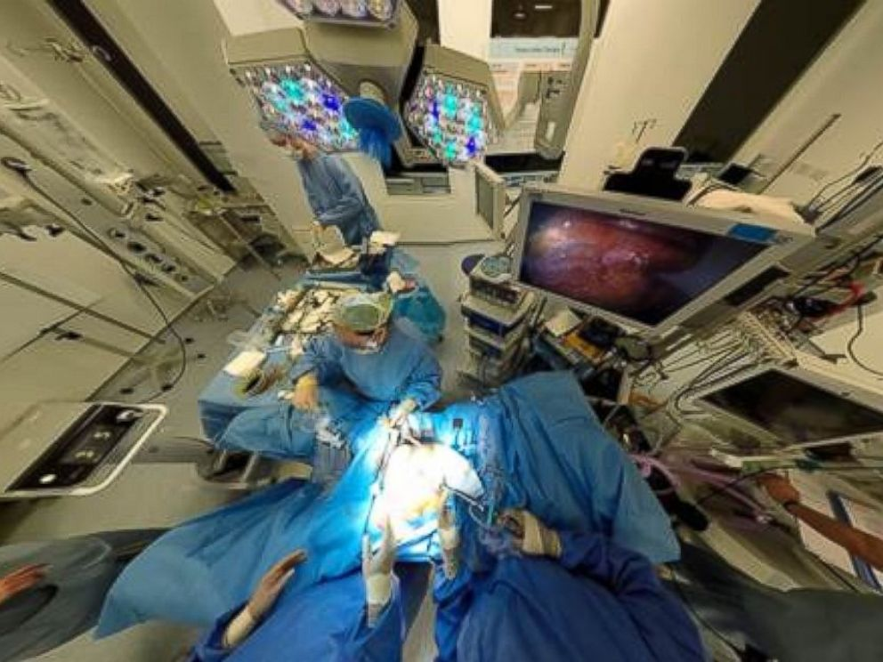 PHOTO: An undated handout image shows a 360 view of Dr. Shafi Ahmeds operating room.
