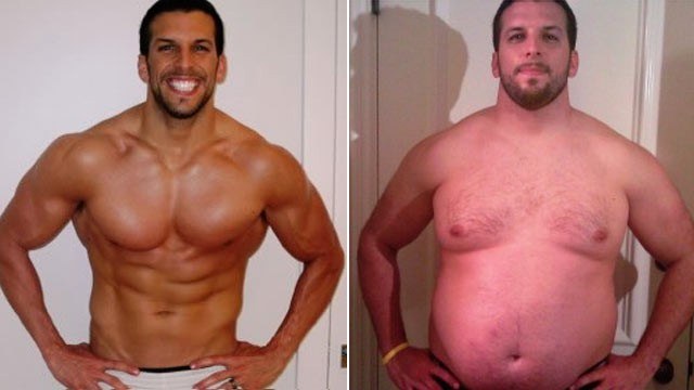 PHOTO:Personal trainer Drew Manning, 30, has purposefully gained weight in order to lose it again.