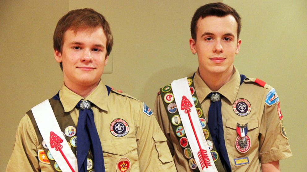 PHOTO: Pascal, left, and Lucien Tessier of Kensington, Md., are both openly gay and have attained the rank of Eagle.