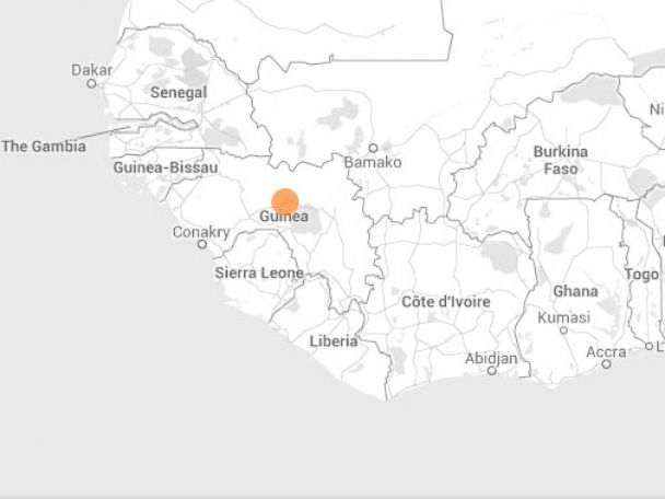 PHOTO: The Ebola outbreak started with a mystery hemorrhagic fever that killed 23 people in Guinea, according to the website.
