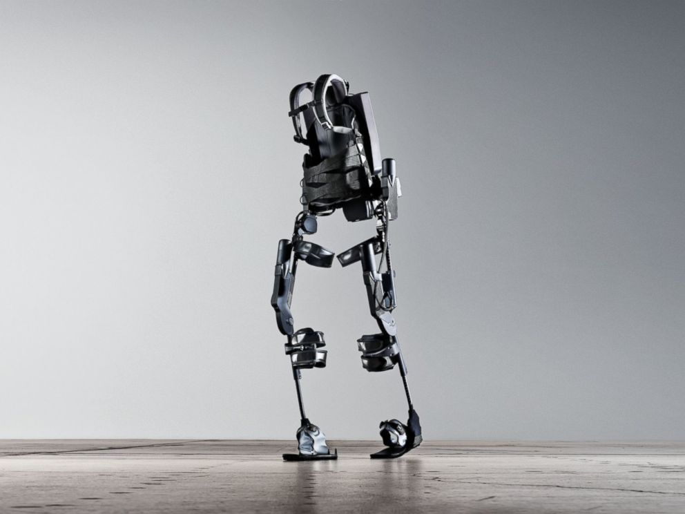 Ekso, short for exoskeleton, is a wearable robot that helps paralyzed patients walk.