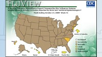 PHOTO According to the CDC?s map of flu activity, 46 states are currently reporting widespread H1N1 flu activity.