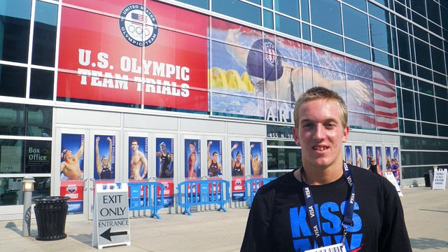 PHOTO: Forrest Davis, who made Olympic Trials this year, gives up vacations, school trips and even weekend fun to one day go for gold.