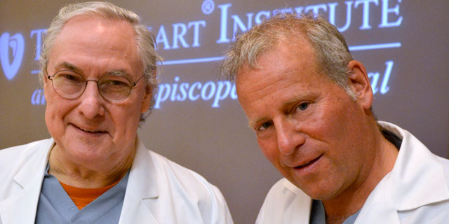 "PHOTO: Dr. Billy Cohn and Dr. O.A. ""Bud"" Frazier have developed a heart device that does not beat."