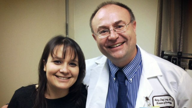 PHOTO: Gloria Borges and Dr. Heinz Josef-Lenz are working together to raise $250 million to cure colon cancer.