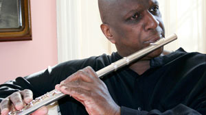 PHOTO Arthur Goodridge, 61, is a composer and professional flutist and saxophone player from Medford, Mass.