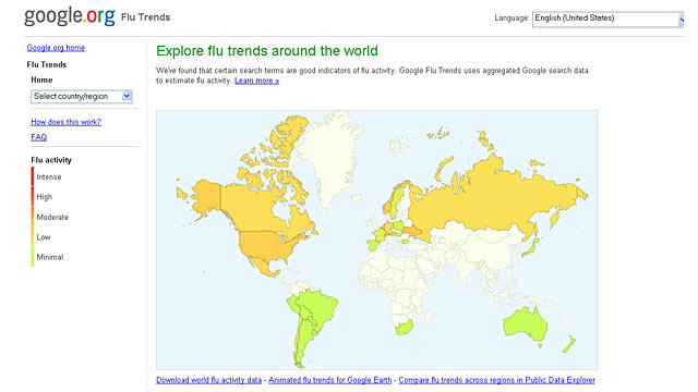 PHOTO: Google Flu Trends