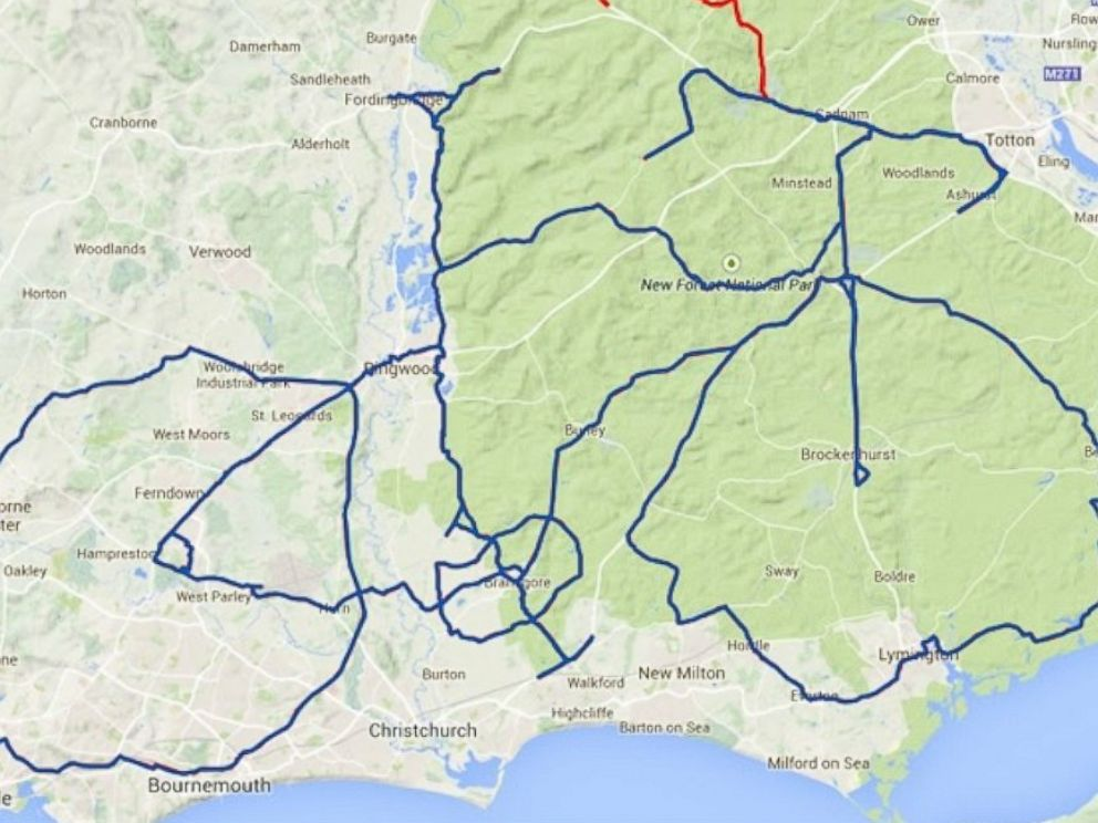 PHOTO: This picture of a bike was crated using Strava GPS.