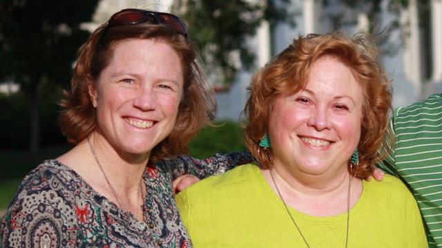PHOTO: Kathryn Hamm, left, and her mother Gretchen Hamm founded Gay Weddings.com.
