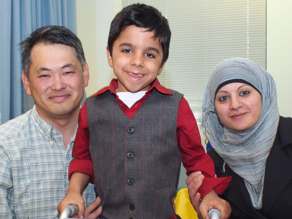 PHOTO: The surgeries helped Hadi walk for the first time.