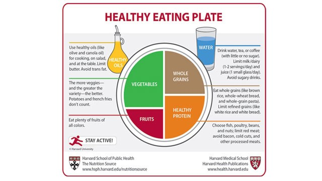 PHOTO: Harvard researchers unveil new healthy eating plate