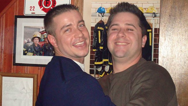 PHOTO: Late firefighter Jack Slivinski Jr. and friend