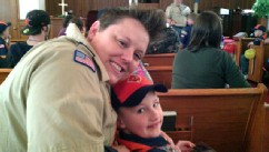 PHOTO: Jennifer Tyrrell, 32, and her son Cruz, 7, of Troop 109 in Bridgeport. Ohio, are shown.