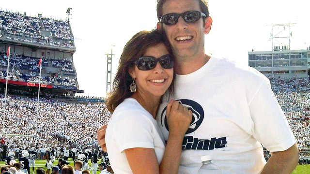 PHOTO: Jerry and Jaime Needel of Hoboken, N.J., are Penn State alumni who are raising funds for the the Rape, Abuse and Incest National Network to help victims of sex abuse.