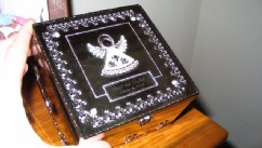 PHOTO: The silver memory box was Jody and Haley Hughey's only memento of their stillborn son.
