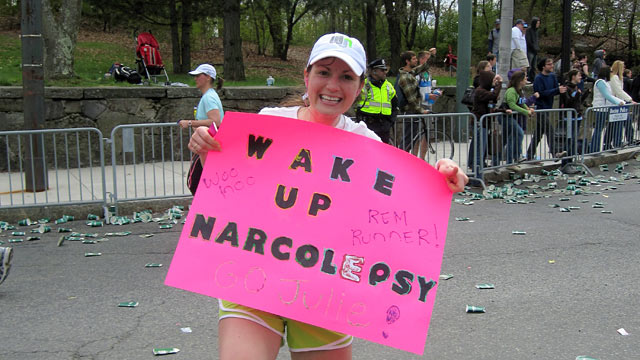 PHOTO: Julie Flygare has narcolepsy, a neurological disorder that causes paralytic episodes where the body collapses, but the mind is awake.