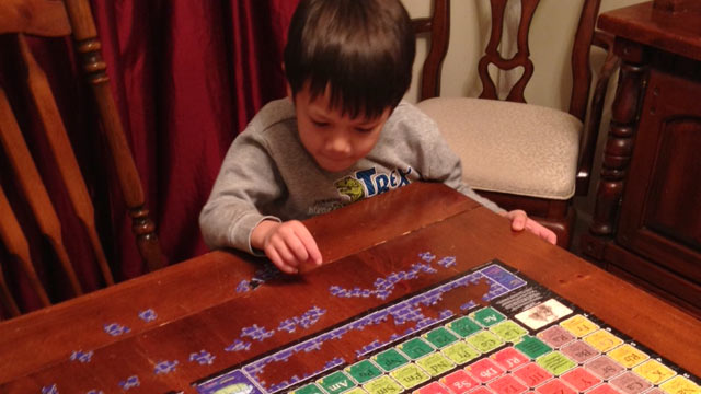 PHOTO: 5-year-old Gus Dorman has already memorized the periodic table.